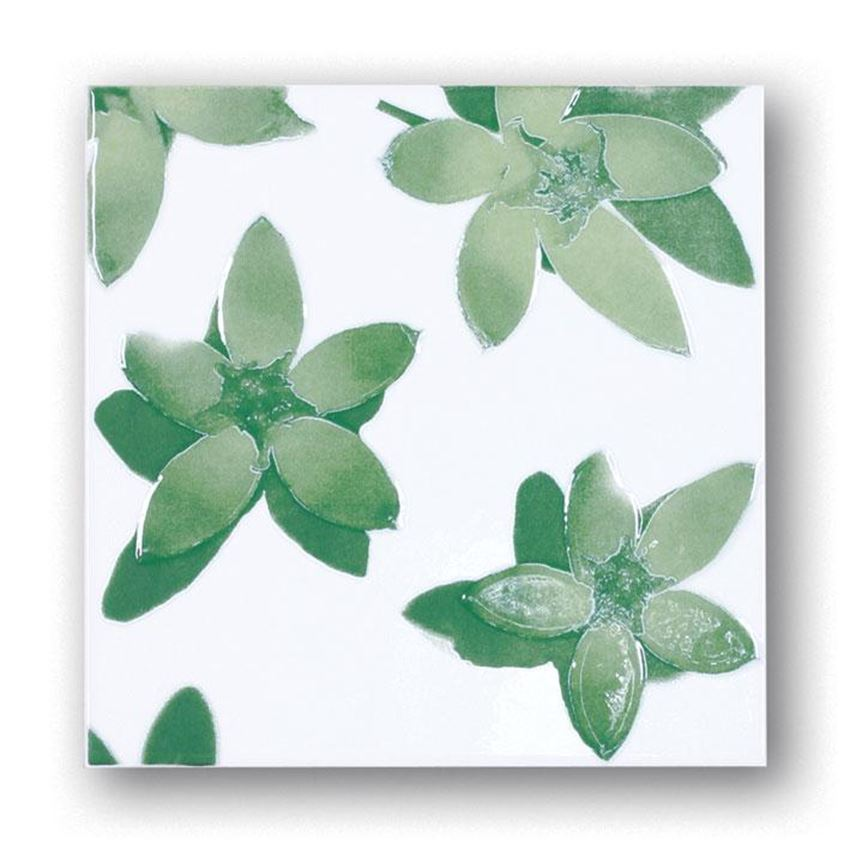 Dekor ścienny w kwiaty Tubądzin Majolika Nimfea