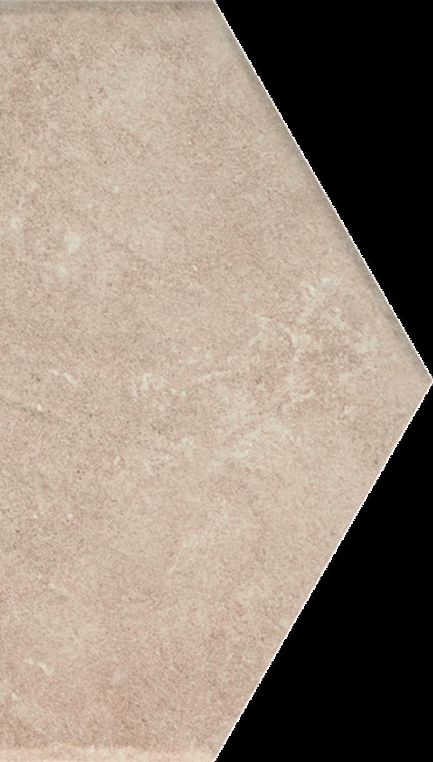 Dekoracja podłogowa 14,8x26 cm Paradyż Scandiano Ochra Połowa