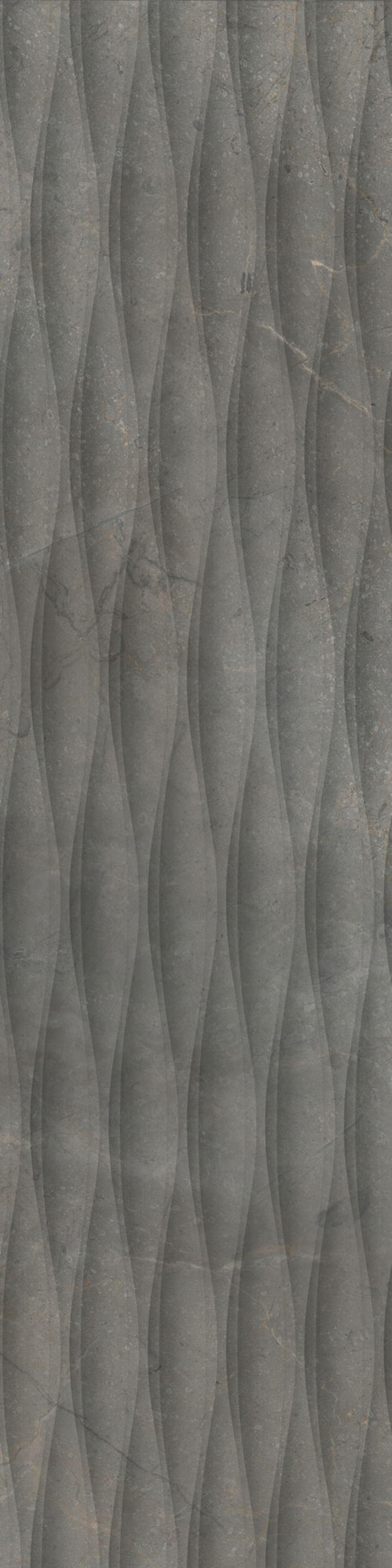 Płytka dekoracyjna 29,7x119,7 cm Cerrad Masterstone Graphite Decor waves MAT
