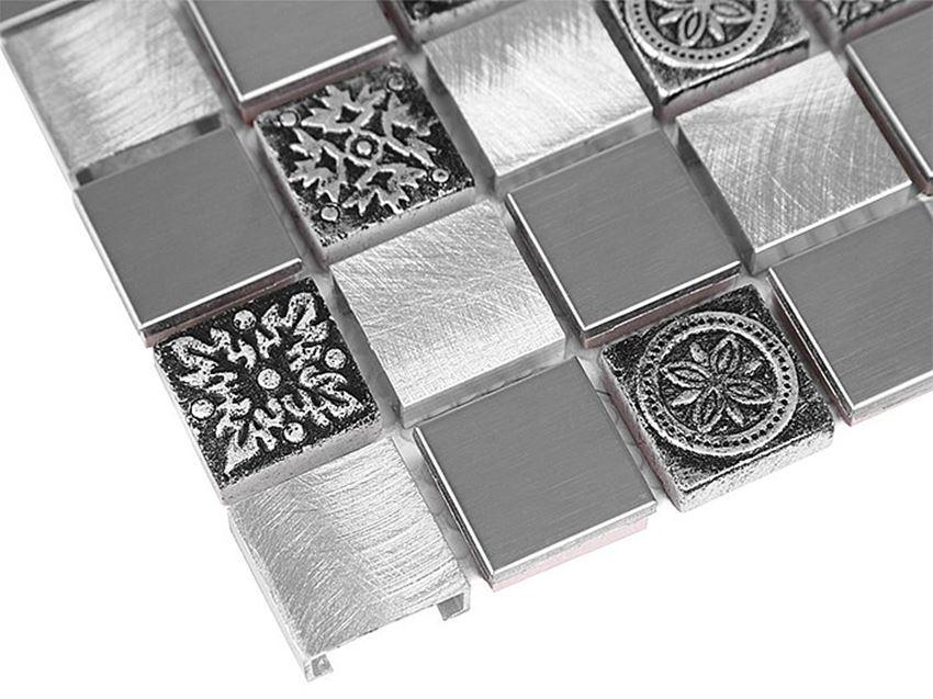 Mozaika 30x30 cm Dunin Metallic Allumi Grey mix 23