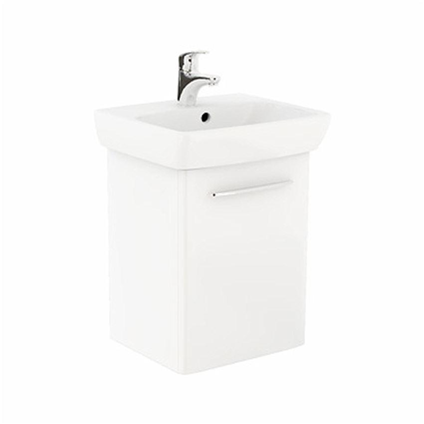 Szafka z umywalką 50 cm biały połysk Koło Nova Pro