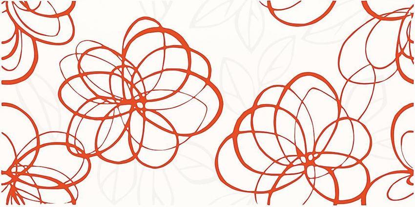 Dekoracja ścienna 30x60 cm Paradyż Vivida Rosa inserto