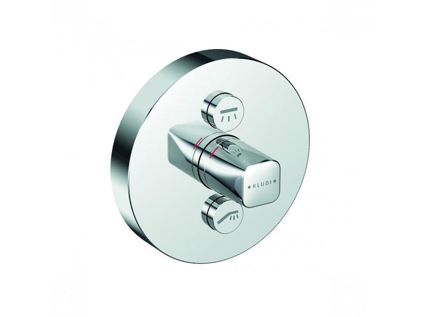 Podtynkowa bateria prysznicowa element zewnętrzny Kludi Push
