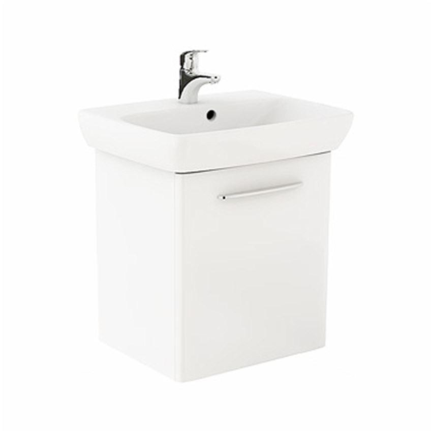 Szafka z umywalką 60 cm, biały połysk Koło Nova Pro