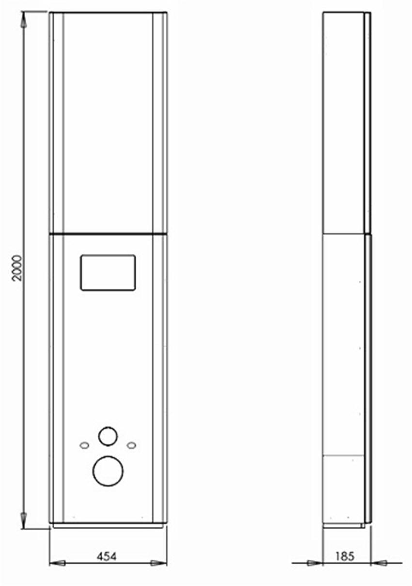 Zestaw stelażowy Koło Nova Pro rysunek techniczny