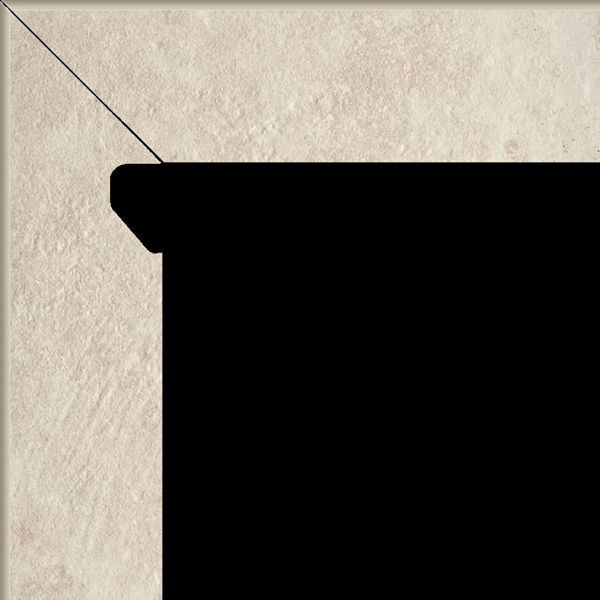 Płytka cokołowa 8,1x30 cm  Paradyż Scandiano Beige Cokół 2 El.-Lewy