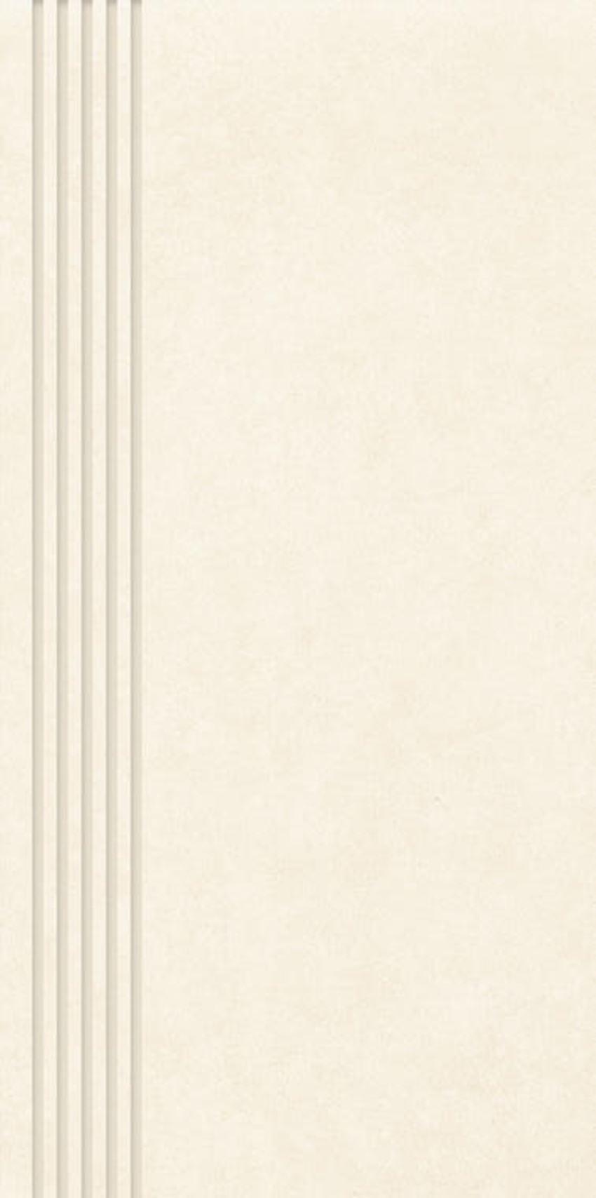 Płytka stopnicowa 29,8x59,8 cm Paradyż Tero Beige Stopnica Prosta Nacinana Półpoler