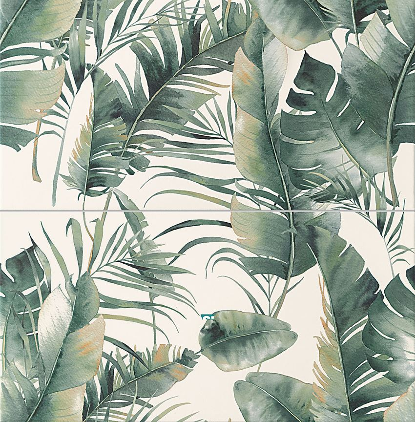 Dekor ścienny 2-elementowy 60,8x61,8 cm Domino Burano green
