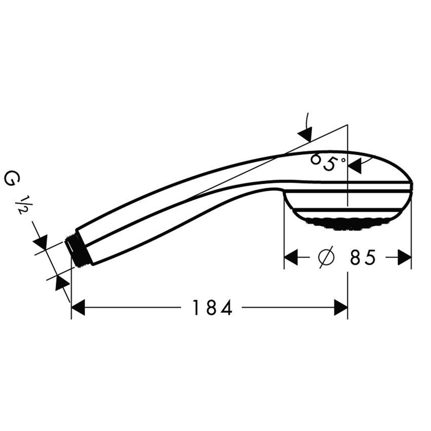Główka prysznicowa Mono Hansgrohe Crometta 85 rysunek