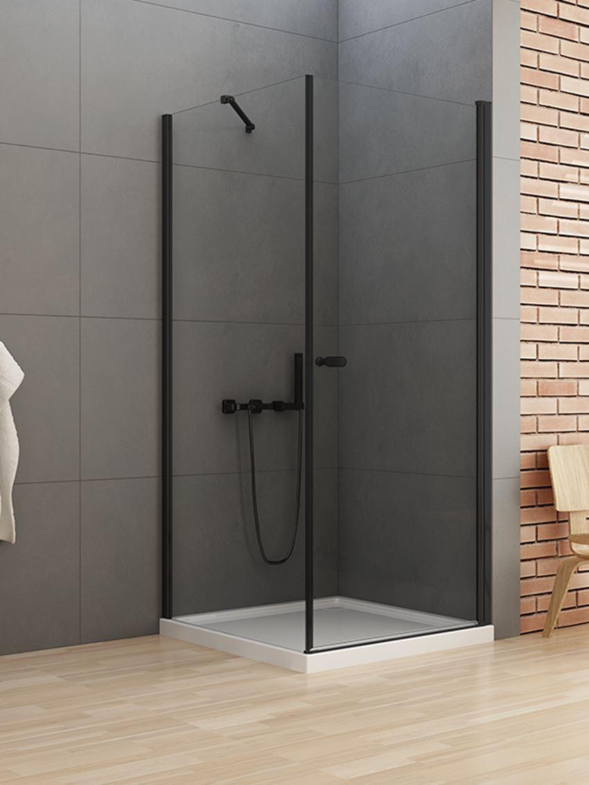 Kabina prysznicowa z drzwiami uchylnymi New Trendy New Soleo Black