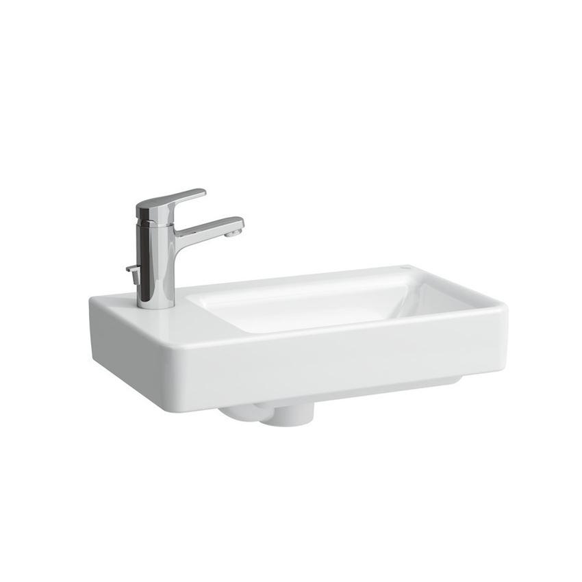 Mała umywalka półka na baterię z lewej strony 48 cm Laufen Pro S