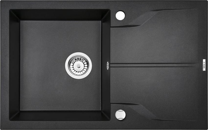 Zlewozmywak 1-komorowy z ociekaczem grafitowy metalik  Deante Andante Flush