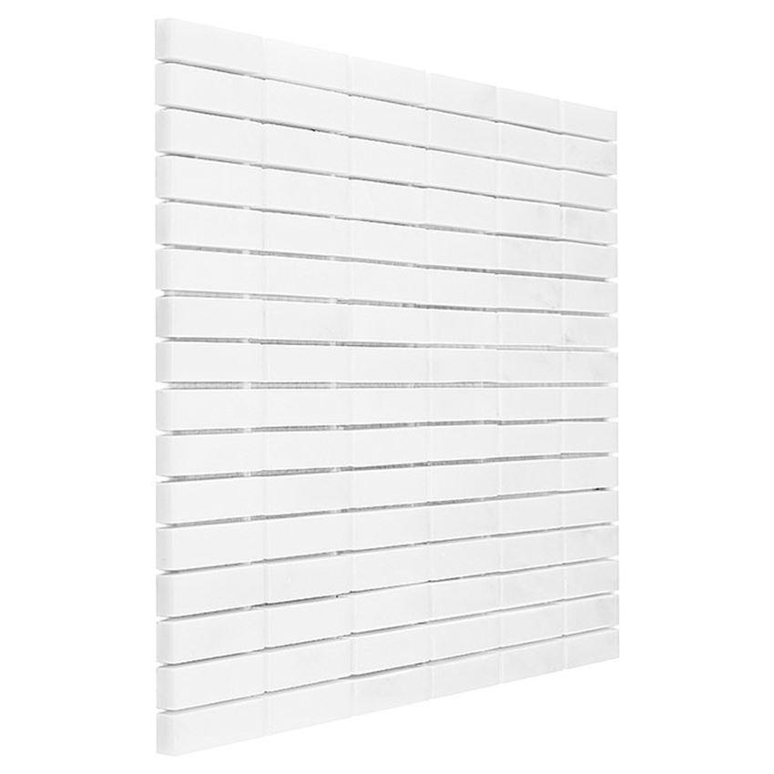 Mozaika 30,5x30,5 cm Dunin Black&White Pure White Block 48
