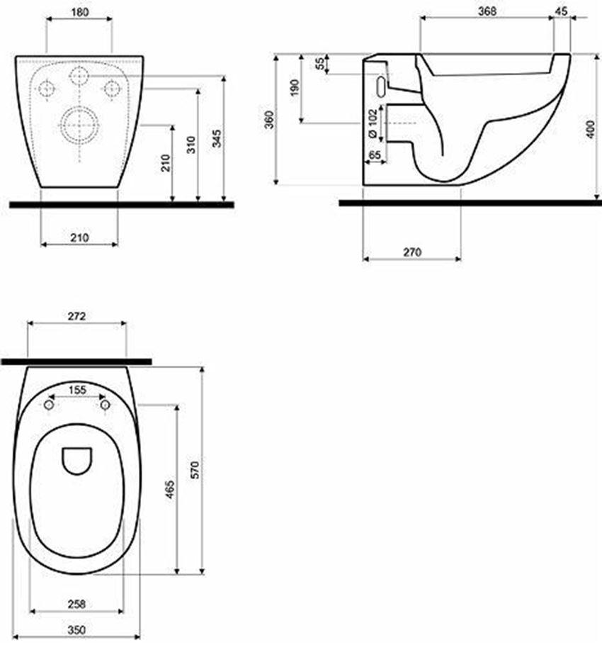 Zestaw Technic GT, stelaż + miska Koło Ego rysunek techniczny