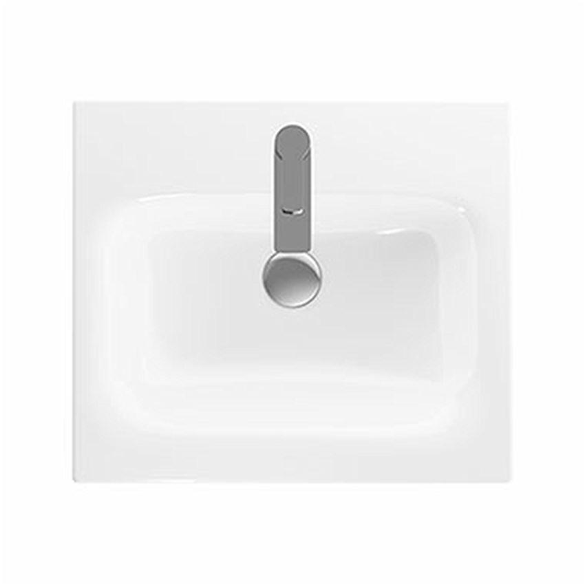 Umywalka meblowa 55 cm z niskim rantem z otworem i przelewem Koło Nova Pro Premium