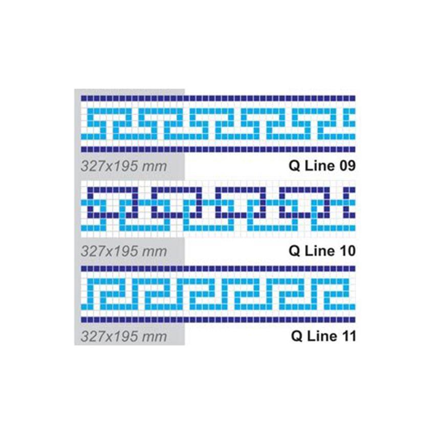 Mozaika 32,7x19,5 cm Dunin Q Design/Lines Q Line 09-11