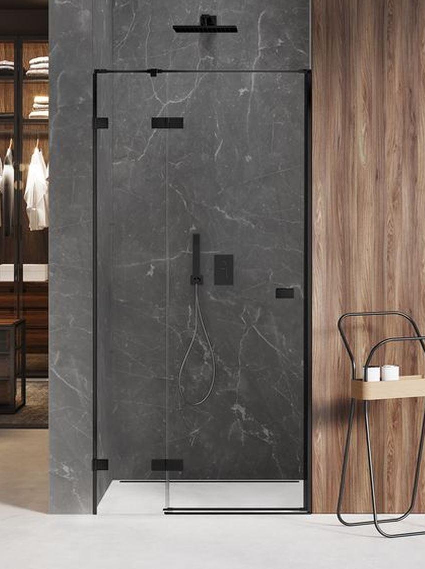 Drzwi prysznicowe uchylne New Trendy Avexa Black