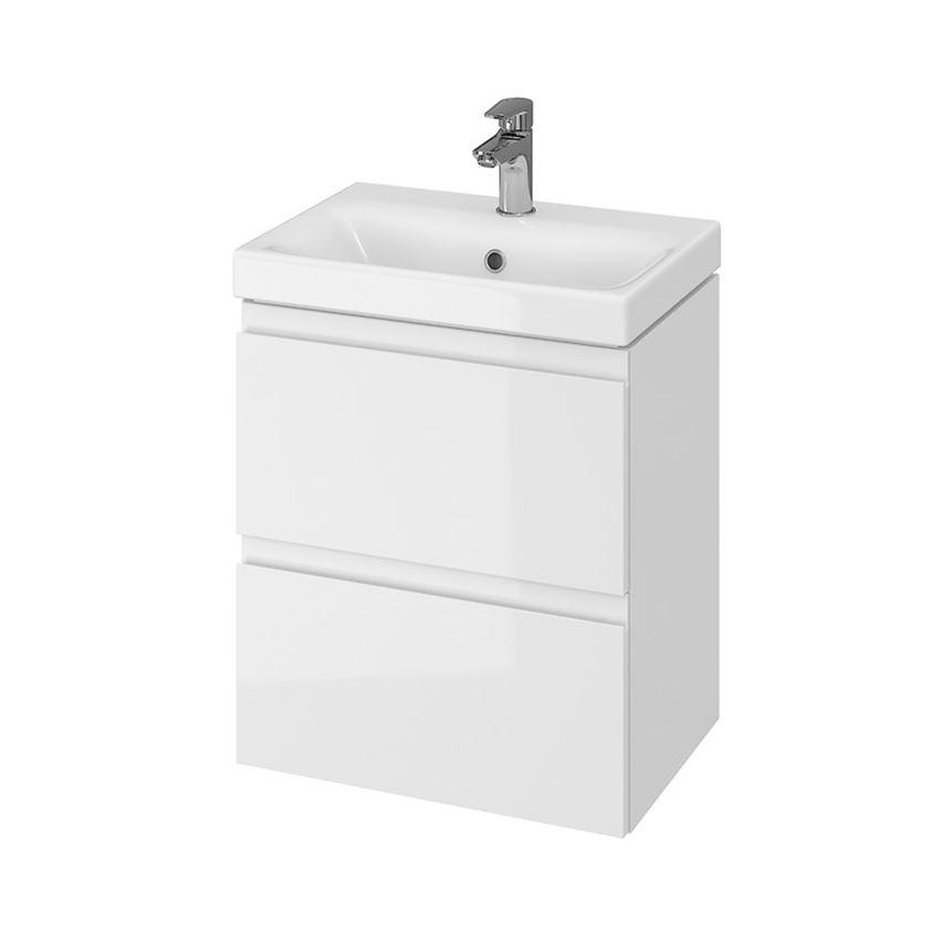 Szafka z umywalką 50 slim biała Cersanit Moduo