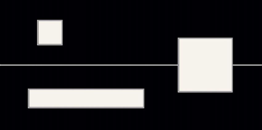 Dekor ścienny 59,8x29,8 cm Tubądzin Tokyo Mita Black