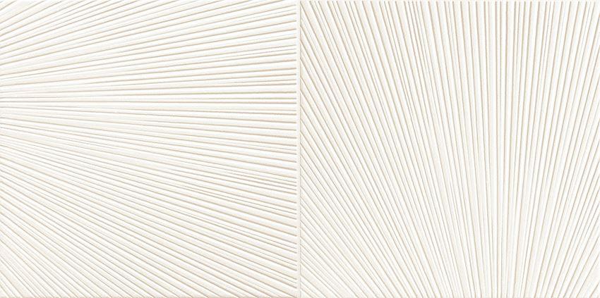 Dekor ścienny 60,8x30,8 cm Domino Bafia white 2