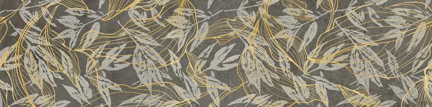 Płytka dekoracyjna 30x120 cm Cerrad Softcement graphite flower Poler