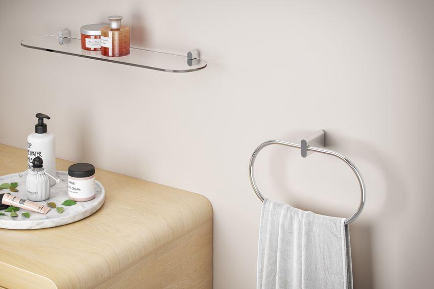 Półka szklana wisząca Excellent Kobo DOEX do łazienki