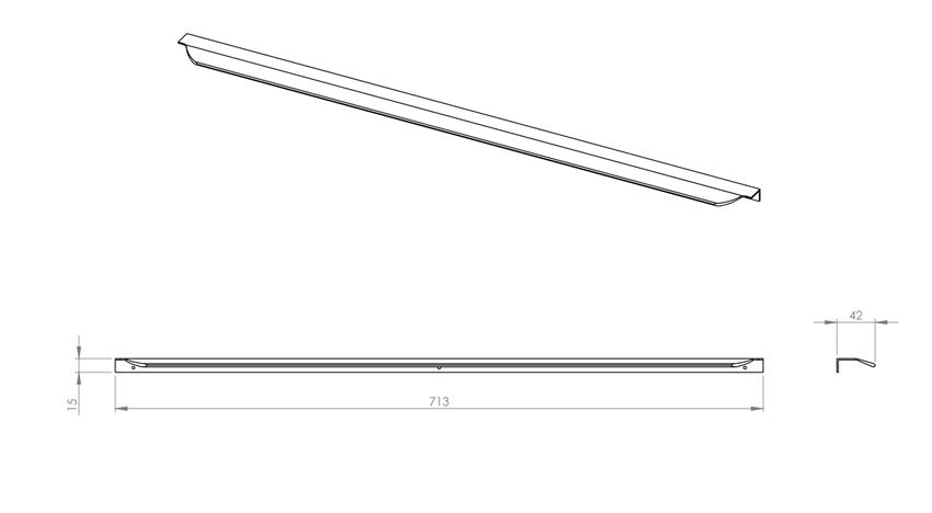 Uchwyt meblowy 70 cm Elita Lofty rysunek