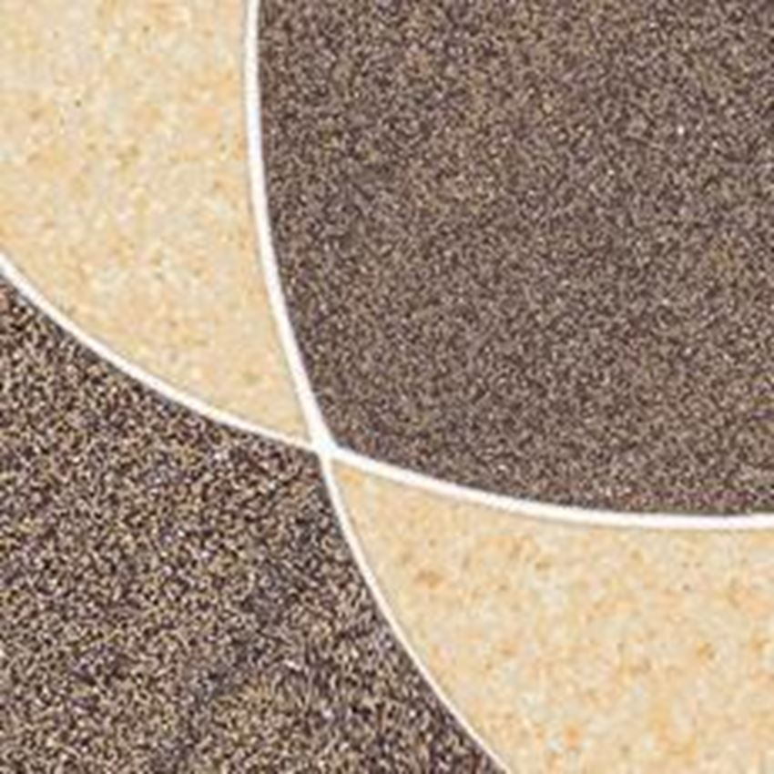Dekoracja podłogowa 9,8x9,8 cm Paradyż Arkesia Mocca Narożnik A Mix