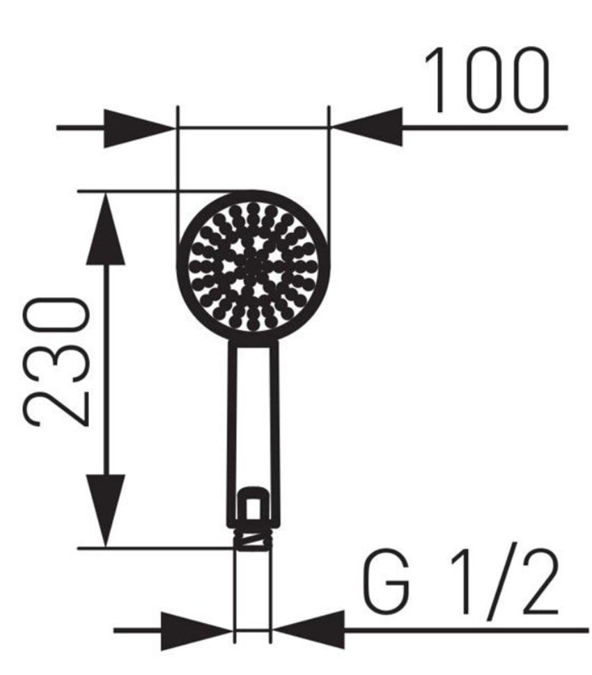 Rączka natryskowa 3-funkcyjna FDesign Inula rysunek
