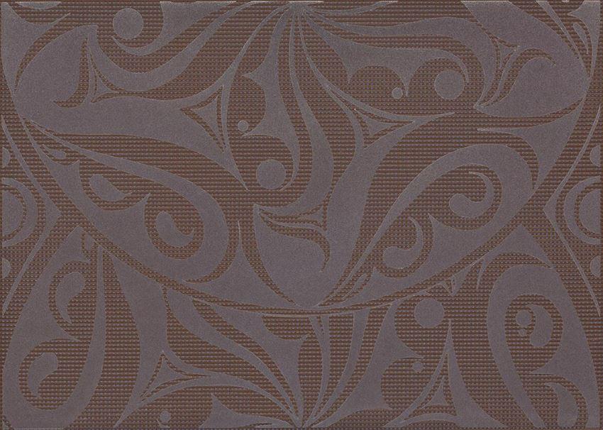 Płytka dekoracyjna 25x35 cm Cersanit Optica brown inserto circles