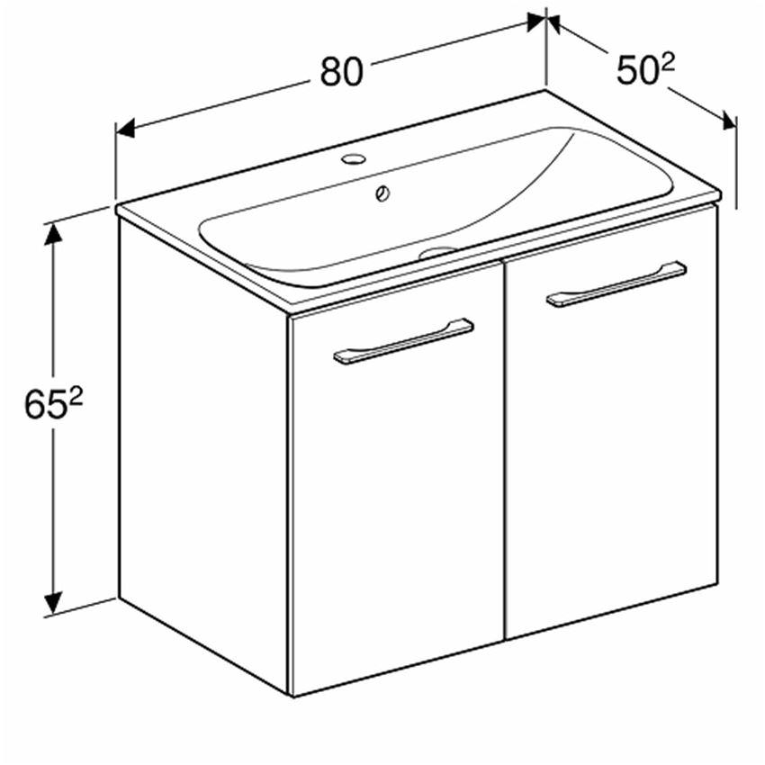 Szafka z umywalką rysunek 80 Koło Nova Pro Premium