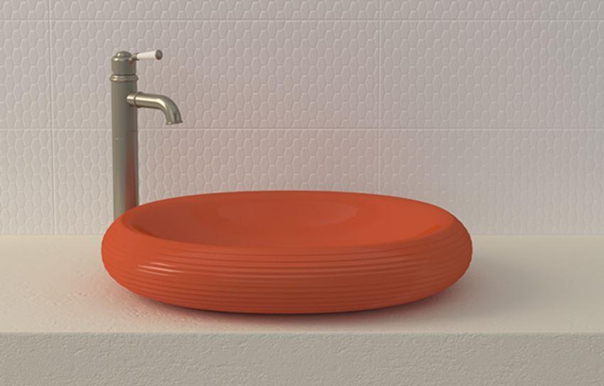 Umywalka nablatowa Glossy Orange Bocchi Strata
