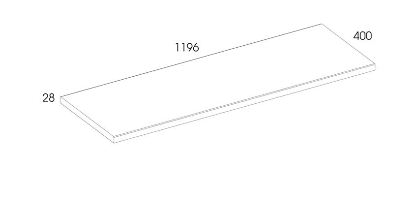 Blat naszafkowy pełny 120 cm Elita Kwadro rysunek