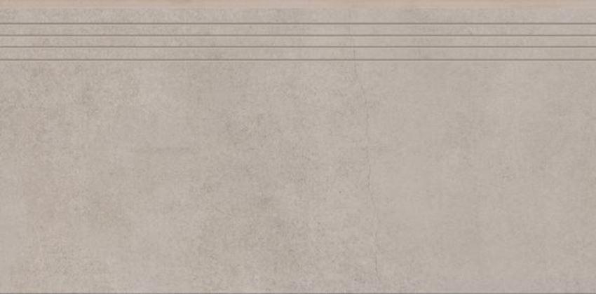 Płytka stopnicowa 29,7x59,7 cm Cerrad Concrete beige