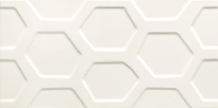 Płytka ścienna 59,8x29,8 cm Tubądzin All in white 1 STR