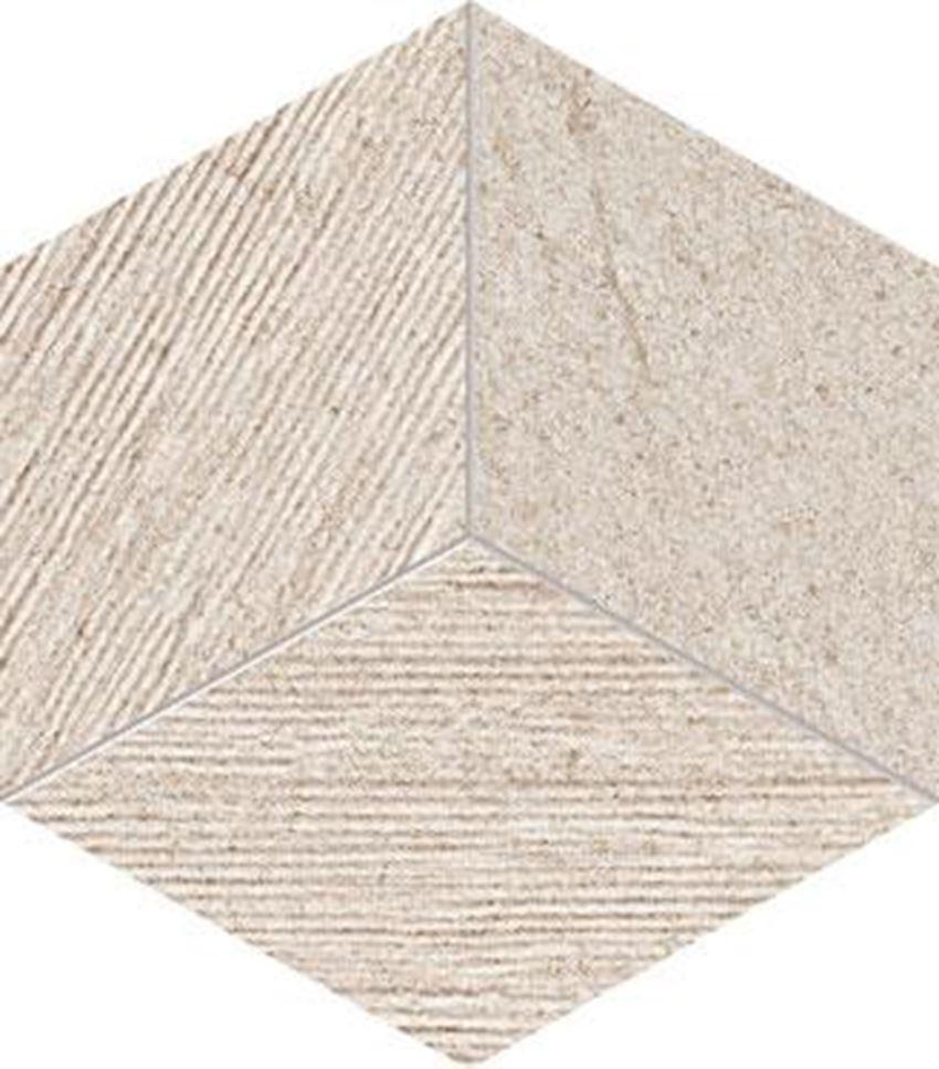 Mozaika ścienna 22,6x19,8 cm Tubądzin Balance grey STR