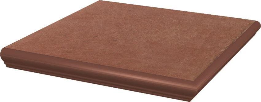 Płytka podłogowa 33x33 cm Paradyż Cotto Naturale Kapinos Stopnica Narożna