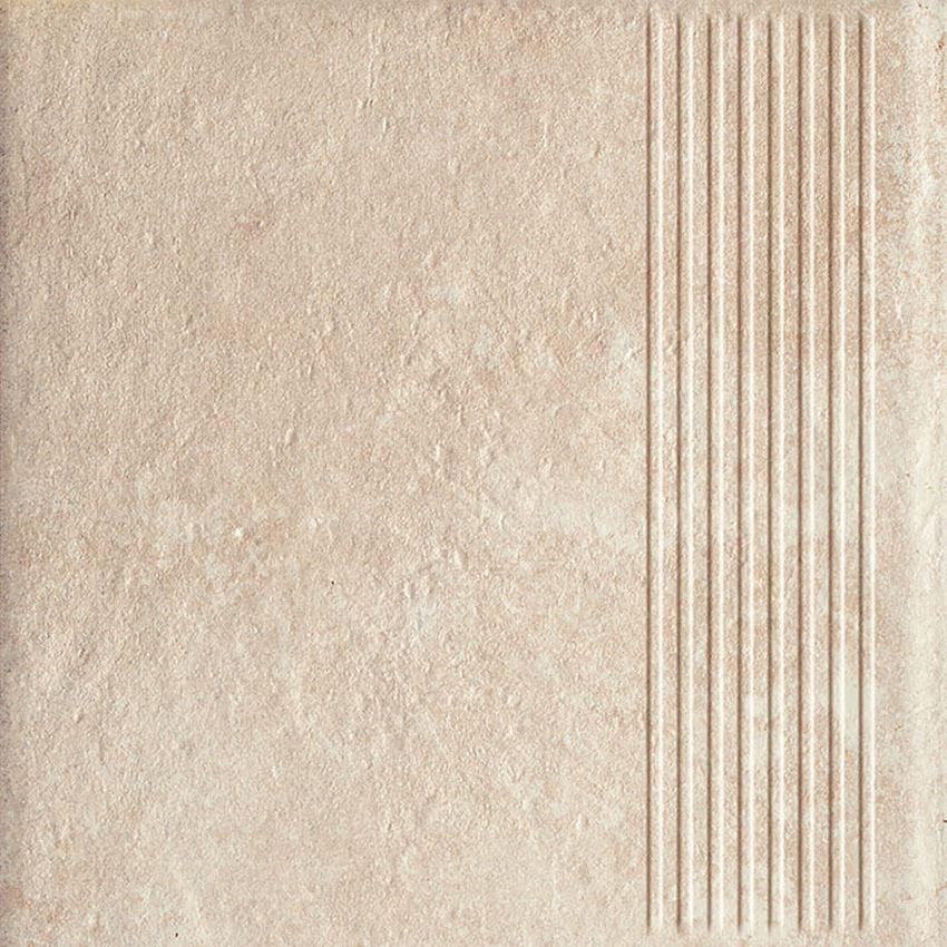 Płytka stopnicowa 30x30 cm Paradyż Scandiano Beige Stopnica Prosta