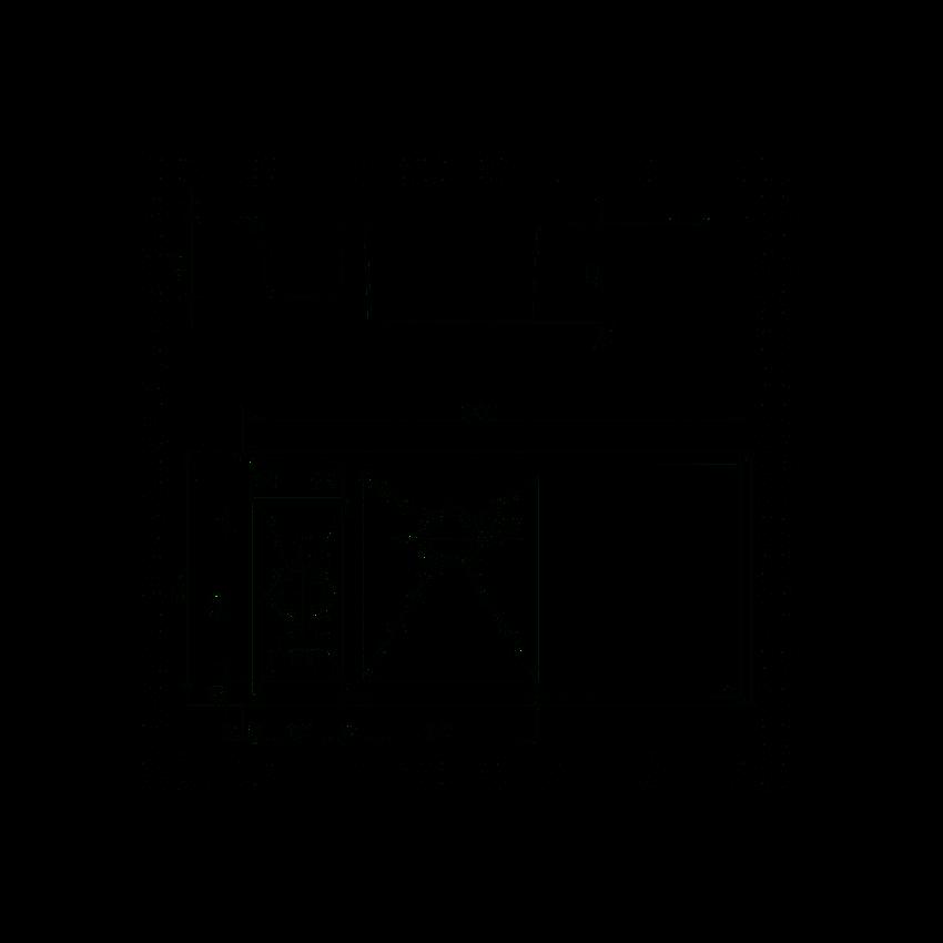 Zlewozmywak 1,5-komorowy z ociekaczem Deante Sinope rysunek techniczny