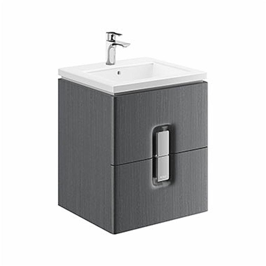 Szafka pod umywalkę 2 szuflady, 50x57x46 cm szara Koło Twins