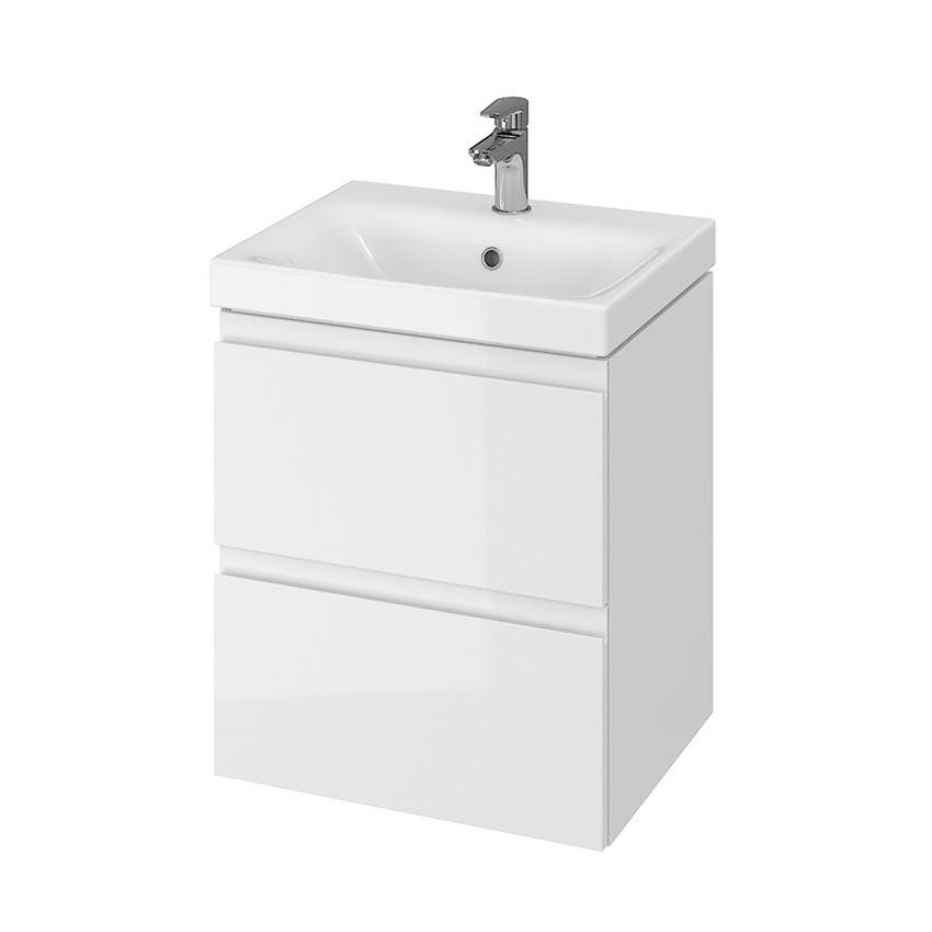 Szafka z umywalką 50 biała Cersanit Moduo