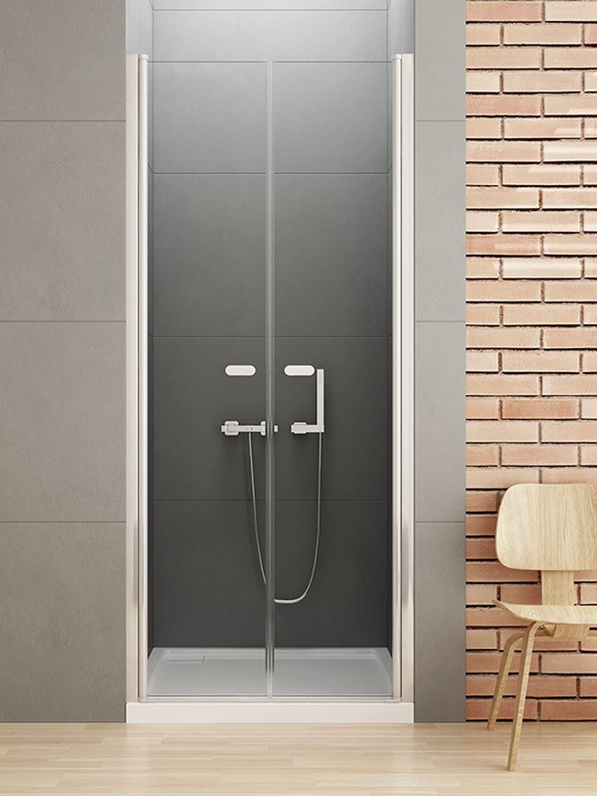 Drzwi wnękowe wahadłowe do kabiny prysznicowej New Soleo