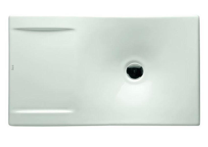 Rzut umywalki nablatowej 66x38 cm Roca Urbi