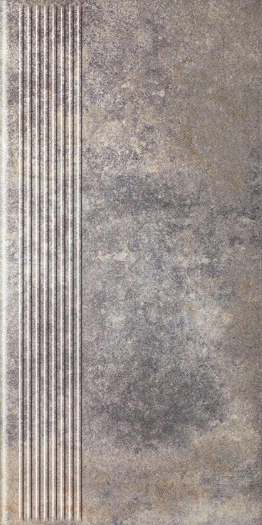 Płytka stopnicowa 30x60 cm Paradyż Viano Grys Stopnica Prosta