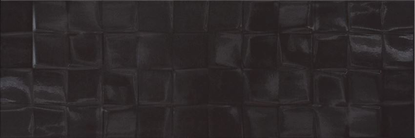 Płytka ścienna 19,8x59,8 cm Cersanit Simple Art Black Glossy Structure Cube