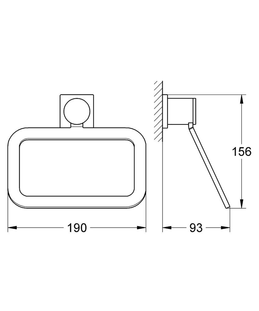Wieszak na ręcznik Grohe Allure rysunek techniczny