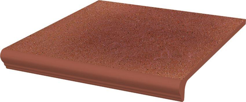 Płytka stopnicowa 30x33 cm Paradyż Taurus Rosa Kapinos Stopnica Prosta