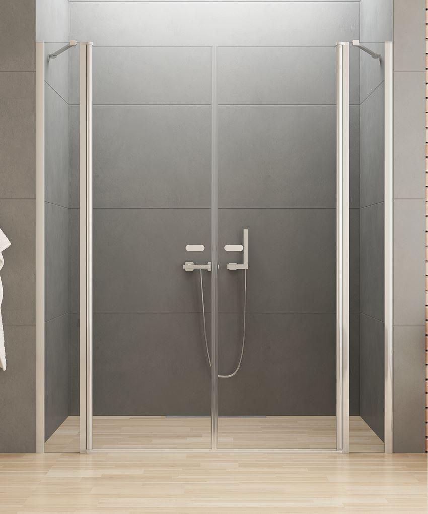 Drzwi prysznicowe podwójne New Trendy New Soleo