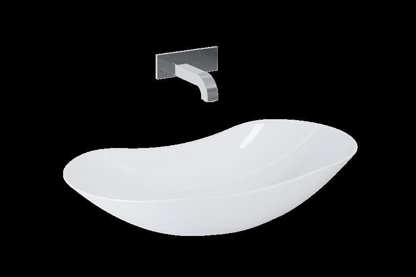 Umywalka stawiana na blacie 73x38 cm Elita Piato