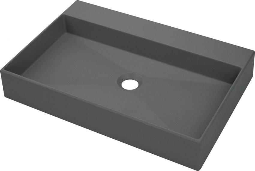 Umywalka stawiana na blacie antracyt/titanium 60x40 cm Deante Correo